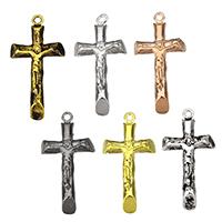 Krzyż wisiorki mosiądz, Powlekane, dostępnych więcej kolorów, bez zawartości niklu, ołowiu i kadmu, 16x31.50x6.50mm, otwór:około 1.5mm, 10komputery/wiele, sprzedane przez wiele