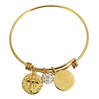 Stainless Steel Bangle with Rhinestone Clay Pave Bead word love gold color plated charm bracelet   for woman 17x20x3mm 9mm 17x20x3mm 2mm Inner Diameter:Approx 62mm Length:Approx 8 Inch 10PCs/Lot