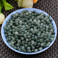 Natural Jadeite Beads, Round, 5-6mm, Hole:Approx 0.5mm, 100PCs/Lot, Sold By Lot