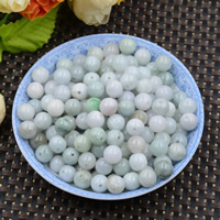 Natural Jadeite Beads, Round, 9-10mm, Hole:Approx 0.6mm, 100PCs/Lot, Sold By Lot