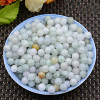 Natural Jadeite Beads, Round, 7-8mm, Hole:Approx 0.6mm, 10PCs/Lot, Sold By Lot