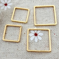 Zinc Alloy Linking Ring Brass Square gold color plated nickel lead   cadmium free 10PCs/Bag