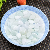 Natural Jadeite Beads, Teardrop, 10x14mm, Hole:Approx 0.7mm, 100PCs/Lot, Sold By Lot