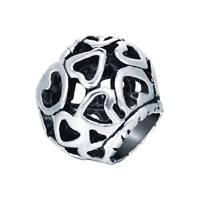 Sinkkiseos European Helmet, Drum, antiikki hopea päällystetty, ilman peikko & ontto, lyijy ja sen kadmium vapaa, 11mm, Reikä:N. 4mm, Myymät PC