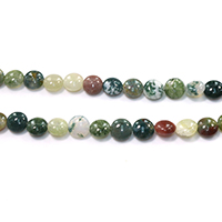 Natural Indian Agate Beads, Flat Round, different size for choice, Hole:Approx 1-1.5mm, Length:Approx 15.5 Inch, Sold By Lot