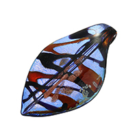 Fashion Lampwork Pendants, Leaf, 39x68x19mm, Hole:Approx 9mm, 10PCs/Lot, Sold By Lot