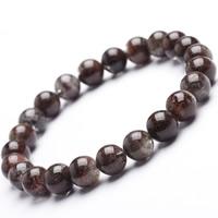 фантомный кварц браслет, Круглая, натуральный, разный размер для выбора & Женский, Продан через Приблизительно 6.5 дюймовый Strand