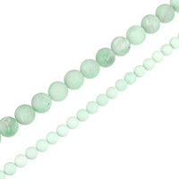 Natural Amazonite Beads, Round, different size for choice, Grade A, Hole:Approx 0.5-1.5mm, Sold Per Approx 15.5 Inch Strand