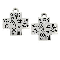 Zinc Alloy Cross Pendants, antique silver color plated, lead & cadmium free, 22x25x3mm, Hole:Approx 2mm, 100PCs/Bag, Sold By Bag