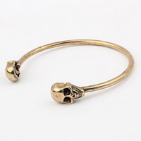 Zinc Alloy Cuff Bangle Skull plated for woman lead   cadmium free 9.2mm Inner Diameter:Approx 56.3mm Length:Approx 6.5 Inch