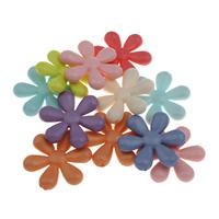 Koraliki Biżuteria akrylowe, Akryl, Kwiat, mieszane kolory, 35x32x7mm, otwór:około 1.5mm, 10komputery/torba, sprzedane przez torba