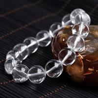 Чистый кварц браслет, Круглая, натуральный, Женский, 8mm, Продан через Приблизительно 6 дюймовый Strand