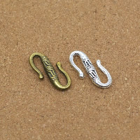 Zinc Alloy S Clasp, plated, more colors for choice, nickel, lead & cadmium free, 12x22x4mm, 50PCs/Lot, Sold By Lot