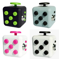ABS Plastic Fidget Cube, different styles for choice, more colors for choice, 40mm, 33mm, Sold By PC