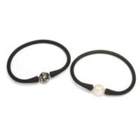 Силиконовые браслеты, Силикон, различные материалы для выбора, 12mm, Продан через Приблизительно 7 дюймовый Strand