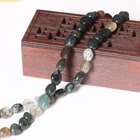 Natural Indian Agate Beads, Flat Round, 9-10mm, Hole:Approx 1mm, Approx 38PCs/Strand, Sold Per Approx 15 Inch Strand