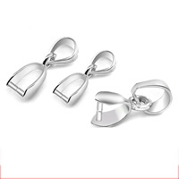 925 Sterling Silver Pinch Bail, different size for choice, Hole:Approx 3mm, 10PCs/Bag, Sold By Bag
