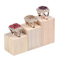 Pierścień Wyświetlacz drewno, Prostokąt, 50x30x30mm, 40x30x30mm, 30x30x30mm, 5zestawy/wiele, 3komputery/Ustaw, sprzedane przez wiele