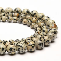 Dalmatian Beads, Round, different size for choice, Hole:Approx 1mm, Sold Per Approx 15 Inch Strand
