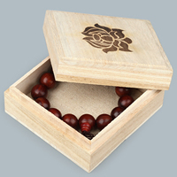 Wood Bracelet Box, Rectangle, different size for choice & with flower pattern, 10PCs/Lot, Sold By Lot