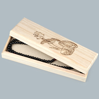 Drewniane pudełko na naszyjnik, Drewno, Prostokąt, różnej wielkości do wyboru & z motywem kwiatowym, 10komputery/wiele, sprzedane przez wiele