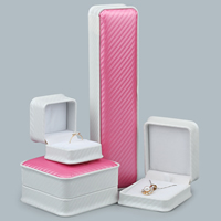PU Jewelry Set Box, with Glue Film, different styles for choice, 10PCs/Lot, Sold By Lot