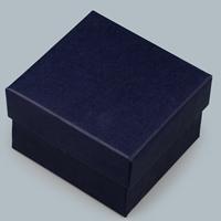 Cardboard Bracelet Box, dark blue, 85x80x55mm, 10PCs/Lot, Sold By Lot