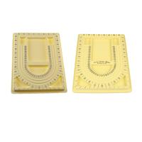 Планшеты для дизайна украшений, пластик, Прямоугольная форма, желтый, 320-340x240-250x15-20mm, 20ПК/сумка, продается сумка