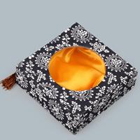 Kartonowe pudełko na bransoletkę, Tektura, ze satyna & Sznur nylonowy, Kwadrat, z motywem kwiatowym, 130x130x45mm, 10komputery/wiele, sprzedane przez wiele