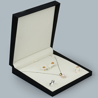 PU Jewelry Set Box, with Glue Film, Rectangle, different styles for choice, 10PCs/Lot, Sold By Lot