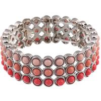 Акриловые браслеты, цинковый сплав, с Акрил, Платиновое покрытие платиновым цвет, Женский, не содержит свинец и кадмий, 20mm, Продан через Приблизительно 7.5 дюймовый Strand