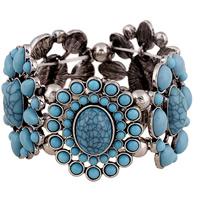 Акриловые браслеты, цинковый сплав, с Акрил, плакированный цветом под старое серебро, Женский, не содержит свинец и кадмий, 42mm, Продан через Приблизительно 7 дюймовый Strand