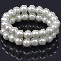 ABS пластик жемчужина браслет, Круглая, Женский, 70mm, Продан через Приблизительно 8.5 дюймовый Strand