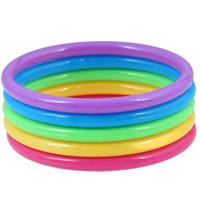 Акрил Браслеты Set, Женский & 5-стренги, 67mm, внутренний диаметр:Приблизительно 67mm, длина:Приблизительно 8 дюймовый, 5ПК/указан, продается указан