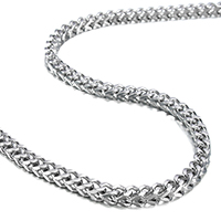 Stainless Steel Chain Necklace wheat chain original color 4.80x4.80mm Sold Per Approx 24 Inch Strand