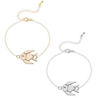 Zinc Alloy Bracelet with iron chain with 5cm extender chain Fish plated oval chain   for woman lead   cadmium free 20cm Sold Per Approx 7 Inch Strand