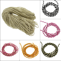 Nylon Cord with Purl two tone 4mm Approx 100Yards/Lot