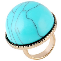 Resin Finger Ring Zinc Alloy with Resin gold color plated for woman lead   cadmium free 29mm US Ring Size:6.5