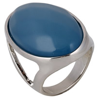 Resin Finger Ring Zinc Alloy with Resin platinum color plated for woman lead   cadmium free 30mm US Ring Size:6.5