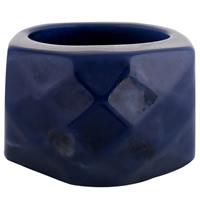 Кольца из полимерной смолы, канифоль, Женский, темно-синий, 18x26mm, размер:9, продается PC