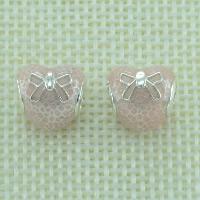 Srebrne koraliki European 925, Srebro 925, Serce, bez gwintu & emalia, otwór:około 4.5-5mm, sprzedane przez PC