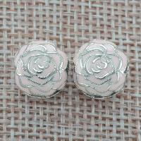 Tajlandia Klips European, Kwiat, emalia, otwór:około 4.5-5mm, sprzedane przez PC