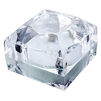 Plastic Single Ring Box, with Sponge, Square, 44x44x41mm, Sold By PC