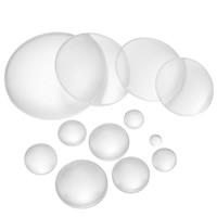 Кабошоны из стекла, Стеклянный, Плоская круглая форма, разный размер для выбора, очистить, 100ПК/сумка, продается сумка