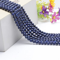 Natural Blue Goldstone Beads, Round, different size for choice, Length:Approx 15.5 Inch, Approx 2Strands/Bag, Sold By Bag