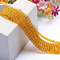Natural Yellow Agate Beads, Round, different size for choice, Length:Approx 15.5 Inch, Approx 2Strands/Bag, Sold By Bag