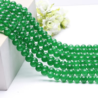 Natural Jade Beads, Green Calcedony, Round, different size for choice, Sold Per Approx 15.5 Inch Strand