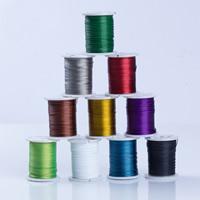 Tiger Tail Wire, kanssa muovi kela, päällystetty, maalattu, enemmän värejä valinta, 0.45mm, Myymät puolan