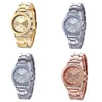 Sinkkiseos Watch rannerengas, kanssa Lasi, päällystetty, enemmän värejä valinta, nikkeli, lyijy ja kadmium vapaa, 38mm, 18mm, Pituus:N. 9.6 tuuma, 2PC/erä, Myymät erä