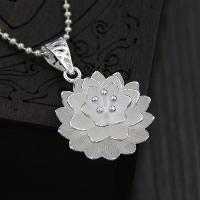 Кулоны из серебра, Серебро 925 пробы, Форма цветка, 25mm, отверстие:Приблизительно 3x5mm, продается PC